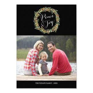 Paz y alegría - tarjeta de la foto del navidad invitación 12,7 x 17,8 cm