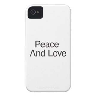 Paz y amor Case-Mate iPhone 4 protector