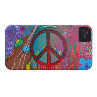 Paz y amor iPhone 4 Case-Mate coberturas
