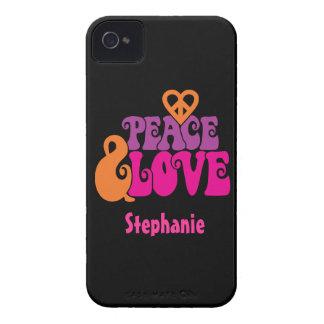 Paz y amor iPhone 4 fundas
