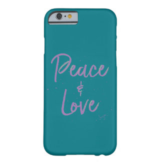 Paz-y-Amor-Púrpura Funda Barely There iPhone 6
