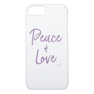 Paz-y-Amor-Púrpura Funda iPhone 7