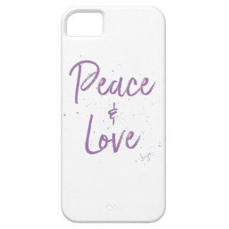 Paz-y-Amor-Púrpura Funda Para iPhone SE/5/5s