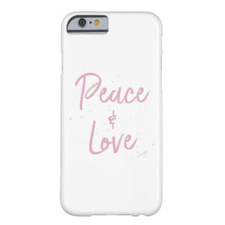 Paz-y-Amor-Rosado Funda Barely There iPhone 6