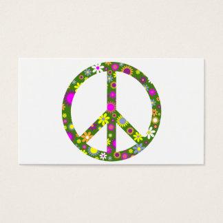 Paz y amor tarjeta de visita