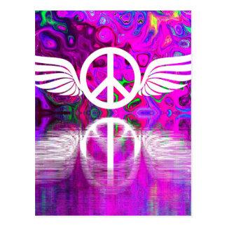 Paz y esperanza de la armonía del mundo humano postal