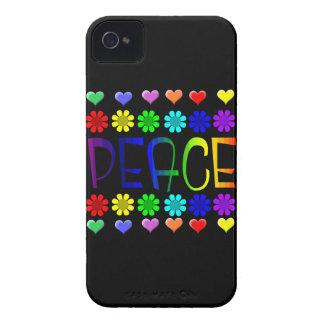 Paz y flores Case-Mate iPhone 4 fundas