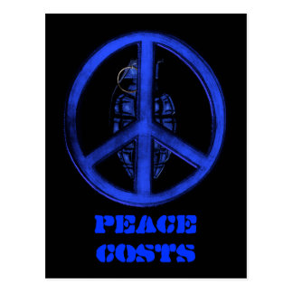 Paz y guerra (azules) postal