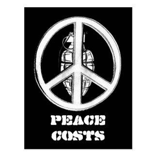 Paz y guerra (blancas) postal