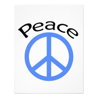 Paz y palabra azules claras anuncios personalizados