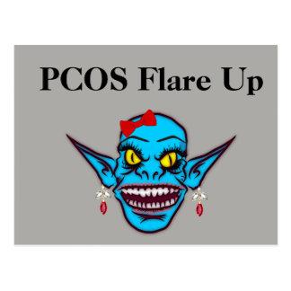 PCOS señalan por medio de luces para arriba postal