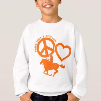 PEACE-LOVE-GIDDYUP SUDADERA