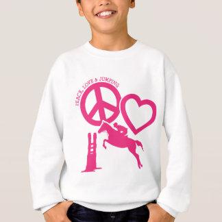 PEACE-LOVE-JUMPING SUDADERA