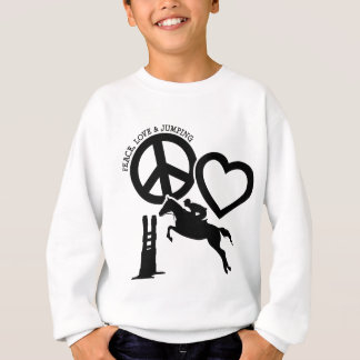 PEACE-LOVE-JUMPING SUDADERA
