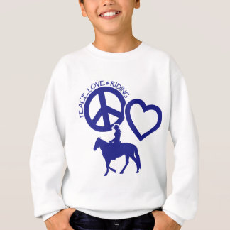 PEACE-LOVE-RIDING SUDADERA