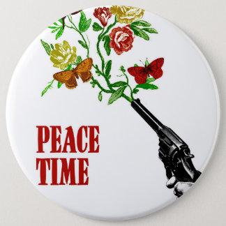 Peace time! chapa redonda de 15 cm