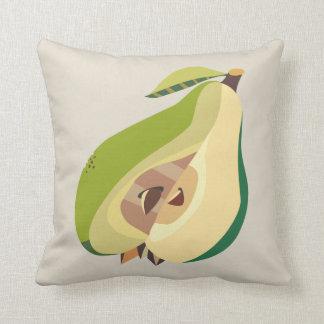 Pear fruit illustration cojín decorativo