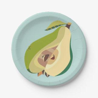 Pear fruit illustration plato de papel