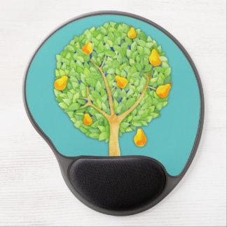 Pear Tree teal Gel Mousepad