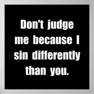 Pecado diferentemente póster