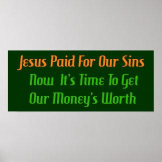 Pecado pagado por adelantado póster
