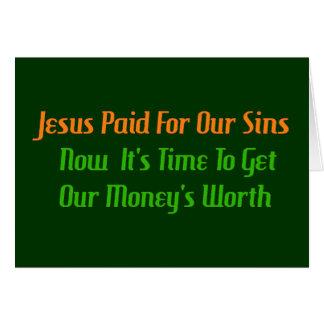 Pecado pagado por adelantado tarjeta