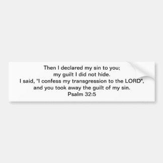 ¡Pecado perdonado y culpabilidad quitada! Pegatina Para Coche