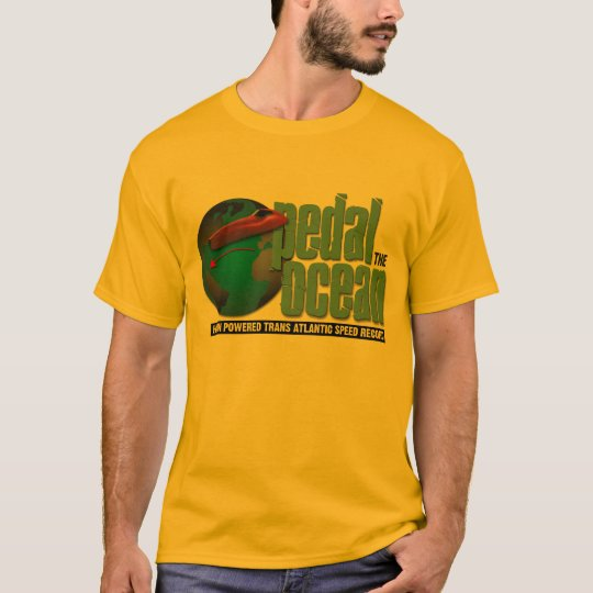 Pedal la camiseta del océano