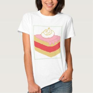 Pedazo cruzado de la puntada de torta camisetas
