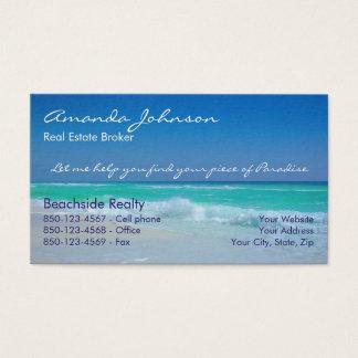 Pedazo de las propiedades inmobiliarias de ondas tarjeta de visita