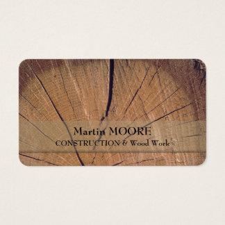 Pedazo de superficie realista áspera rústica de tarjeta de negocios