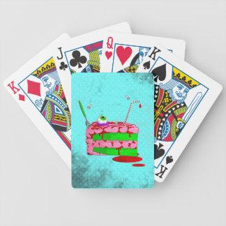Pedazo de torta cartas de juego