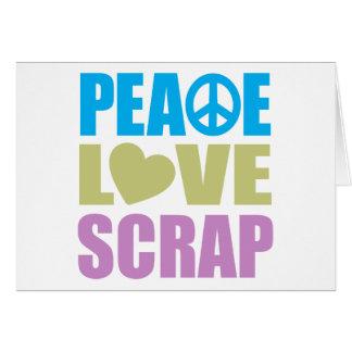 Pedazo del amor de la paz tarjeton