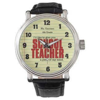 Pedazo del maestro de personalizado divertido de reloj