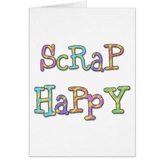 Pedazo feliz tarjeta de felicitación