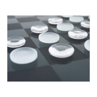 Pedazos de cristal del juego impresiones en lienzo estiradas