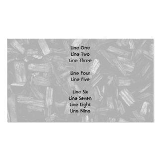 Pedazos de madera en blanco y negro plantilla de tarjeta de negocio