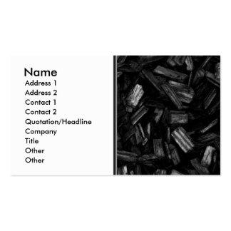 Pedazos de madera en blanco y negro. tarjetas de visita