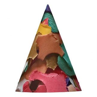 Pedazos de papel coloridos del carnaval del fiesta gorro de fiesta
