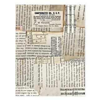 Pedazos de papel del vintage - horizontales postal