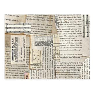 Pedazos de papel del vintage - vertical postal