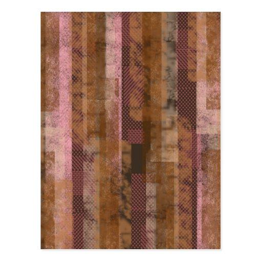 Pedazos rosados postal