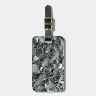 Pedazos rotos de cristal etiquetas bolsa