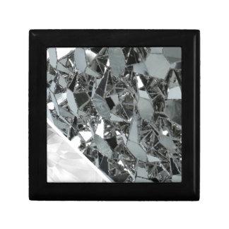 Pedazos rotos de cristal joyero cuadrado pequeño