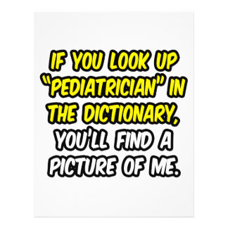 Pediatra en diccionario… mi imagen tarjetas publicitarias