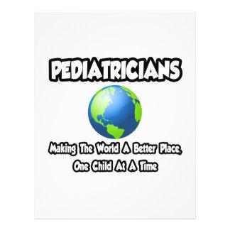 Pediatras… que hacen el mundo un mejor lugar tarjetas publicitarias