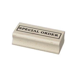 Pedido especial sello de negocio de 2,5 x 1
