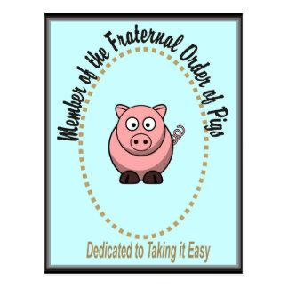 Pedido fraternal de cerdos postal