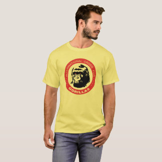 Pedido internacional para los gorilas camiseta