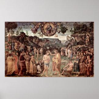 Pedro Perugino - bautismo de Cristo Posters